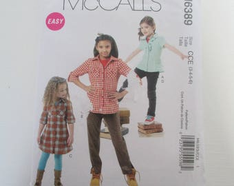 shirt dress and pants pattern size 3, 4, 5, 6 McCall's S