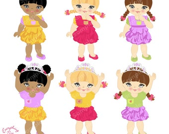 Cute Little Girls with Tiaras
