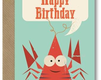 Happy Birthday Lobster Card