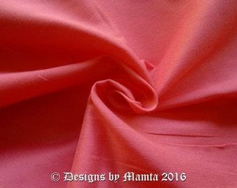 Coral Pink Dupioni Art Silk Fabric By Yard, Light Orange Dupion Silk, Art Silk, Designer Fabric, Dressmaking Art Silk Fabric, Curtain Making