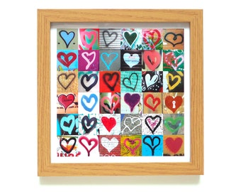 Hearts | Street Art Print | Framed Print | Collections Picture | Square Photographic Print | Graffiti | Romance | Valentine | Urban