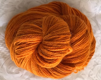 "109yds Worsted Hand Dyed Alpaca-Silk-Fine Merino Yarn 50g - ""Curried Carrots"""