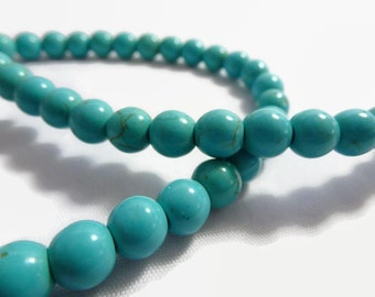 8mm Turquoise Beads 1 strand of approx 50 beads