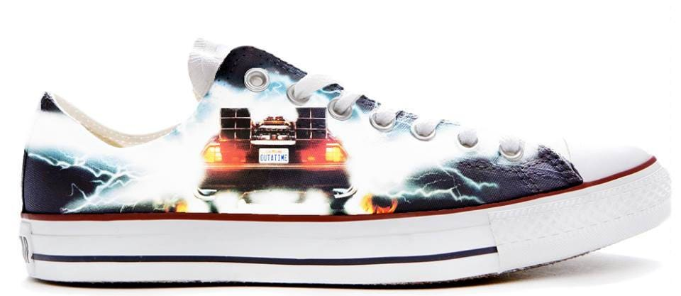 back in time for the future illustration custom converse Basket low top Chaussure s Basket converse s trainers gift printed car autos syfy c4a08a