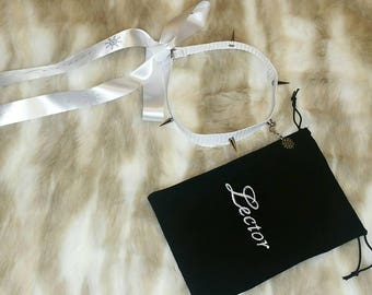 Kitten Play Collar Choker Bag and Ribbon Ties Custom Printed