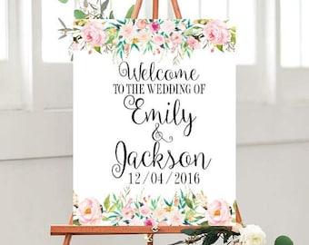 Personalized Wedding signs, Printable Wedding, Welcome Wedding Sign, Welcome to The Wedding Sign, Custom sign, Wedding Printables