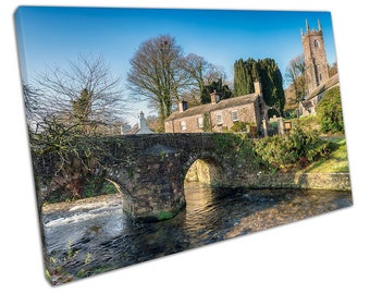 River Inny as it flows through the small village of Altarnun Canvas X1026