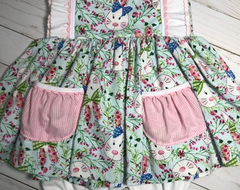 Easter dress and bloomers. Size 18-24 months
