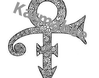 Prince Symbol Colorable 8x10 Print