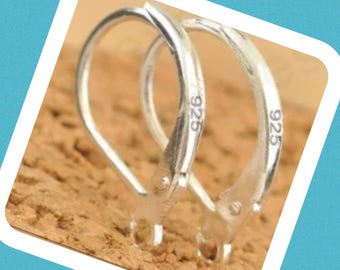 Sterling Silver Leverbacks, Silver Leverbacks, 925 Leverbacks, Sterling Silver Findings, Leverback Earrings, Jewelry Supplies, Leverbacks