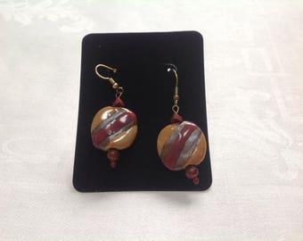 Kazuri Bead Dangle Earrings