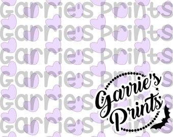 Printable | Heart Pattern | Lavender