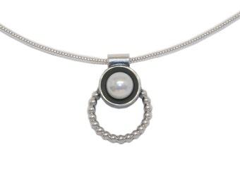Necklace 'KEPHISO' SM Realsilver BDSM Collar Choker Ring of O. Master Slave Top Bottom 60007