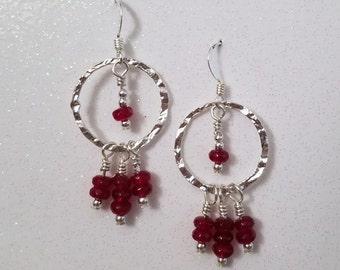 E1097 Garnet Earrings (January's Birthstone)