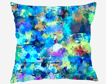 Watercolor Throw Pillow #2, Watercolor  Pillow Cover, Watercolor Accent Pillow, Nursery Decor, Kids Room