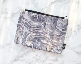 Marble print Makeup bag, cosmetic bag, toiletry bag, mothers day gift, makeup lover gift, best friend gift