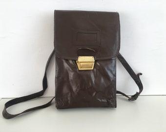 NEVER USED - Military Bag - Bag of the Bulgarian Army - Bag of the Bulgarian Army - Bag for articles - Leather bag - Vintage army bag