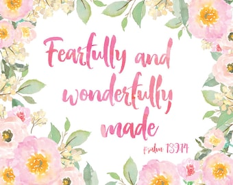 Fearfully and Wonderfully Made Wall Art