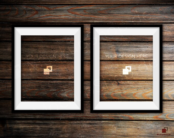 BLACK FRAME MOCKUP, Set of 2, Empty Mockup Frame, Black Frame Mock-Up, Digital Frame Mockup for download, Frame Mockup, Download File