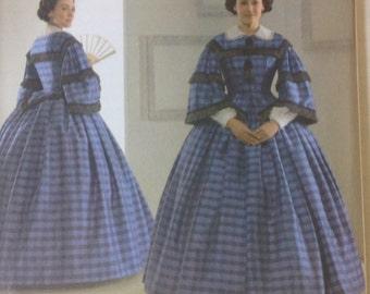 Uncut Simplicity Pattern 3727 Wisconson Historical Society Civil War Costume Dress