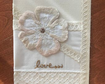 Vintage Linens Love Greeting Card