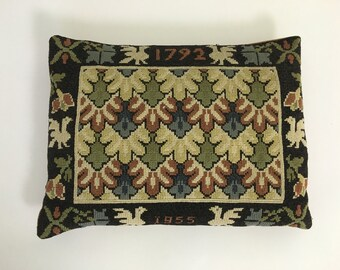 Arts and Crafts style needlepoint Pillow from 1955