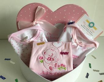 Little heart 3 bodysuits