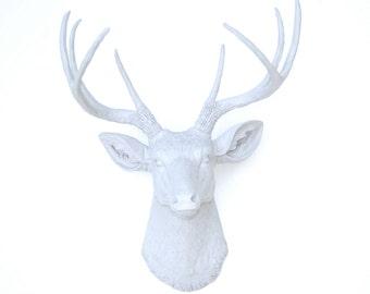 Gray Faux Deer Head - Deer Head Faux Taxidermy Wall Decor D0303