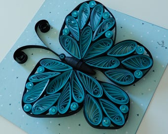 Butterfly wall decor, quilling butterfly