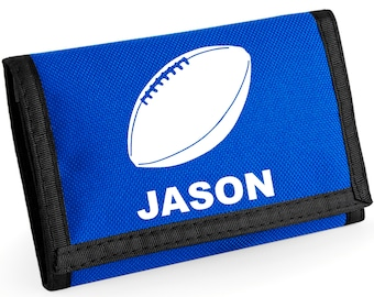 Personalised Rugby/Soccer/Football Wallet  - *Choice of colours*