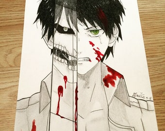 Attack on Titan Eren Yeager A4 print