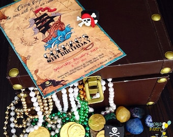 Pirate Invitation file - Tattoo Old Style Party Pirate - PDF