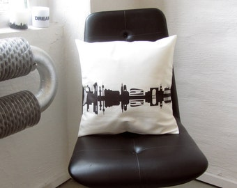 STUTTGART City Pillowcase Throw Pillow Cushion Cover - Skyine-Print STUTTGART - Cotton Twill Screen Printed - 16 inch - handmade by 44spaces