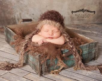 Burlap Layering Blanket Photography Prop Newborn Baby Photo Prop Mini Burlap Blanket Basket Filler basket Stuffer