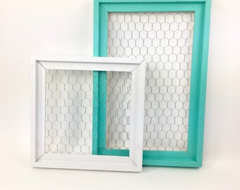 Chicken wire message center/ command center/ bulletin board/ photos/ pictures/ display board/ organization/ available in 17 colors