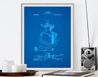 Stewert Anvil, Patent Prints, Patent Posters, Patent Art, Blacksmith tools, Blacksmith Anvil, Blacksmith Art, Blacksmith forge, Anvil Patent