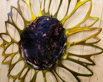 Sunflower metal art