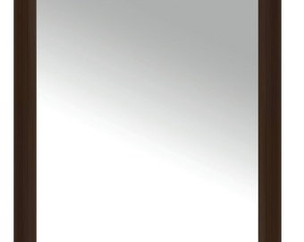 New 30 X 40 Mirror Framed in Faux Leather Black or Classic Brown Frame