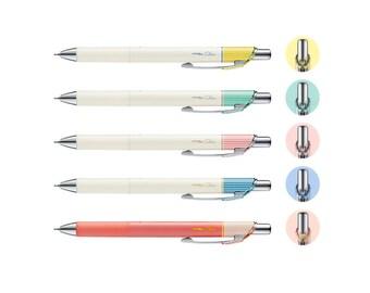 6pcs Limited Edition FULL Set - Pentel EnerGel Clena BLN73 Assorted Colors 0.3mm Retractable Gel Pens
