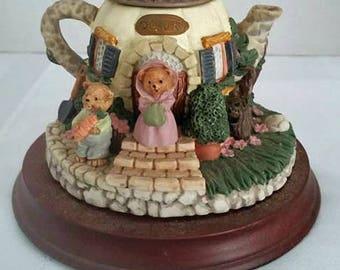Ceramic Teacup Teddy Bear Miniature