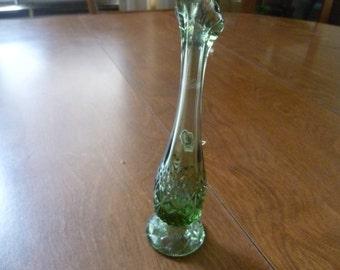 Small Green Fenton Vase