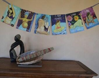 Birth Flags/ Birth Affirmations/ Birth Mantra Flags/ Doula/ Midwife/