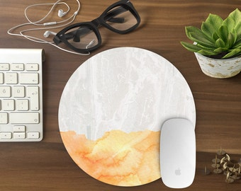 Mouse Pad, Marble Mousepad, Mouse Mat Marble print Mouse Pad Office Mousemat Rectangular Mousemat Mousepad GOLD design mouse pad - T80637