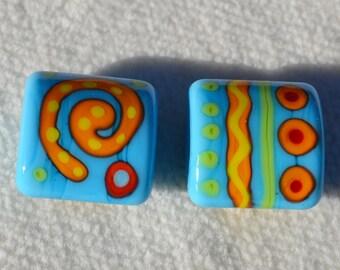 Artisan Lamp Work Beads- Lot 16
