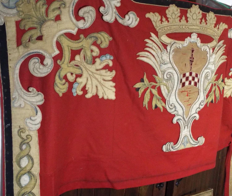 Antike heraldischen Wappen der französischen Wappen samt