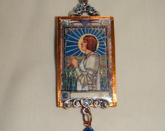 St Joan of Arc Pendant inv1947