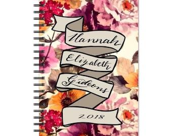 Personalized spiral bound notebook