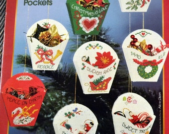 Aida Plus Christmas Pockets Counted Cross Stitch  By Alice Okon