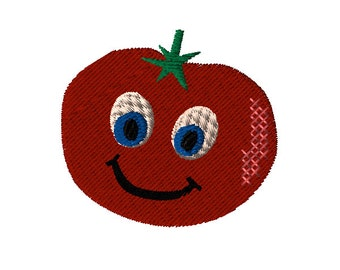 Animated Tomatoes Machine Embroidery Design