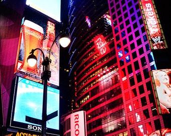 New York City Decor, New York Wall Art, Times Square Photograph, NYC Photography, Travel Decor, Modern Home Decor, Large Wall Art